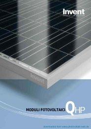MODULI FOTOVOLTAICIQHP - Photovoltaik