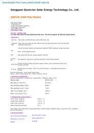 230W Poly Module - Photovoltaik