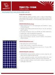 TEM175-195M - Photovoltaik