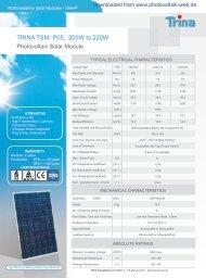 TRINA TSM- P05, 200W to 220W - Photovoltaik