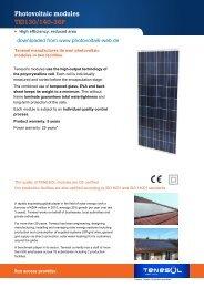 Photovoltaic modules TEI130/140-36P - Photovoltaik