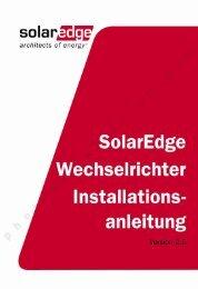 SolarEdge Wechselrichter Installantionsanleitung – MAN-01-00058-2 ...