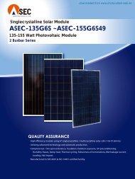 ASEC-135G6S ~ASEC-155G6S49 - Photovoltaik
