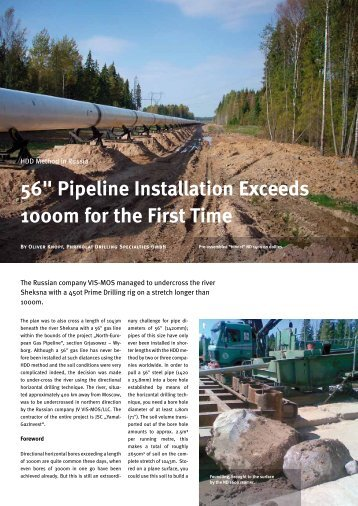 """56"""" Pipeline Installation Exceeds 1000m for the First Time - Phrikolat"""