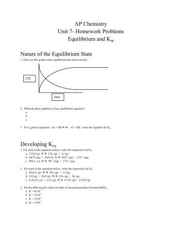 chemistry 122 worksheet chemical equilibrium review 1 what. Black Bedroom Furniture Sets. Home Design Ideas