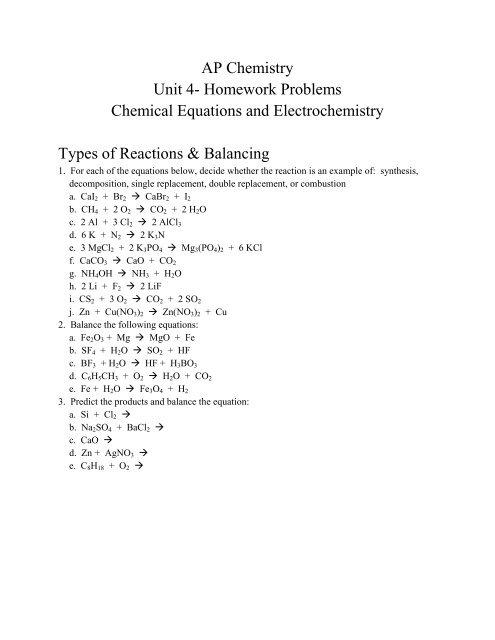 Ap chemistry homework help