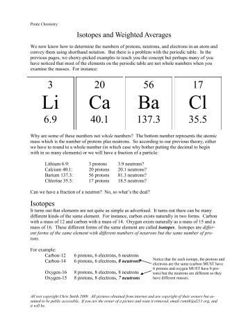 Isotope and Ions Practice Worksheet Name