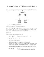 Graham's Law of Effusion & RMS