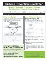 Bullying Prevention Newsletter - Palatine High School - Township ...