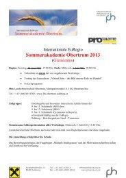 Information - Organisatorisches - 2013 - PH Salzburg