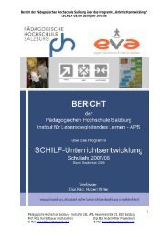 Jahresbericht - Pädagogische Hochschule Salzburg