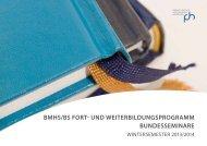 BMHS/BS Fort- und WeiterBildungSprograMM ... - PH Salzburg