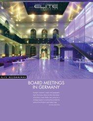 BOARD MEETINGS IN GERMANY - Elite Traveler