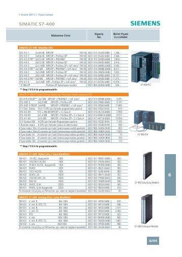 S7400 Türkiye fiyat listesi (1 Aralık 2011) - Ergin.com.tr