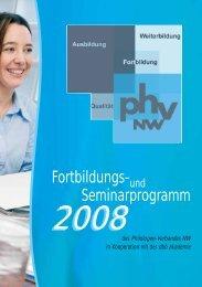 Fortbildungs- Seminarprogramm - PhV NW