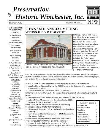Download the summer newsletter in PDF form - Preservation of ...