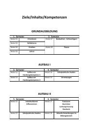 Curriculum SPS (Auszug) - Pädagogische Hochschule Wien