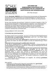 Leitlinien gemeinsame Praxis HS/ASO - Pädagogische Hochschule ...