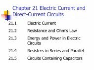 Chapter 21 Electric Current and Direct-Current Circuits
