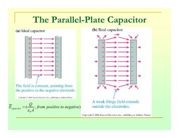 edge effects in the parallel plate capacitor department of physics