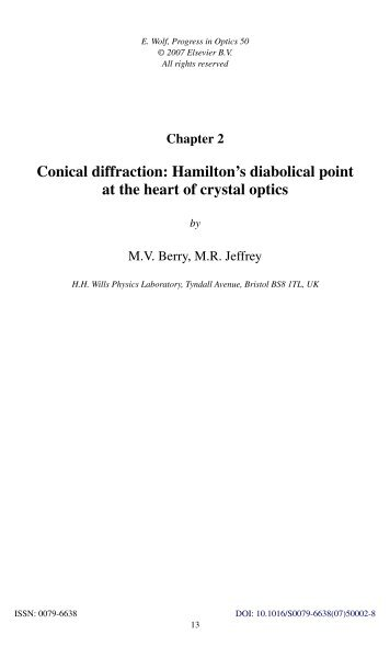 Conical diffraction: Hamilton's diabolical point at the ... - Physics home