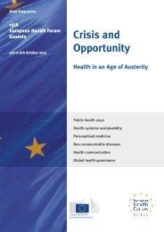 Wellness Programme - European Health Forum Gastein