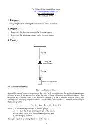 1 Purpose 2 Object 3 Theory - The Chinese University of Hong Kong