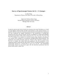 Survey of Spectroscopic Factors for Li – Cr Isotopes - Department of ...