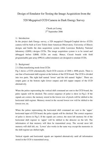 Dark Energy Survey - Department of Physics - The Chinese ...