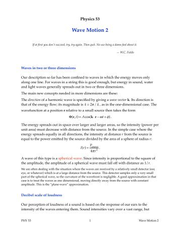 Wave Motion 2 - Duke Physics