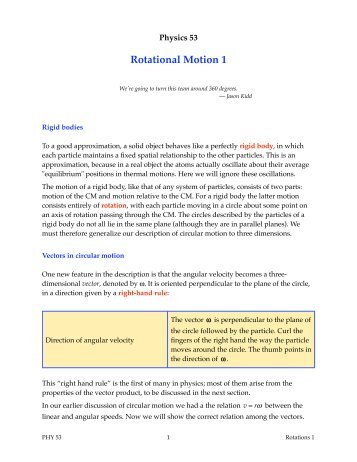 Rotations 1 - Duke Physics