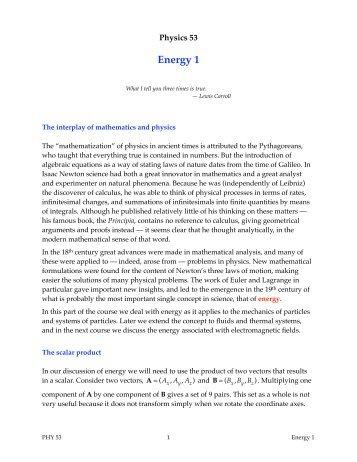 Energy 1 - Duke Physics