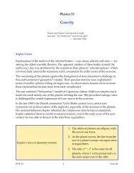 Gravitation - Duke Physics