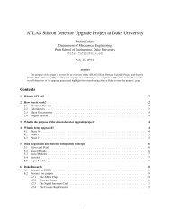 ATLAS Silicon Detector Upgrade Project at Duke University