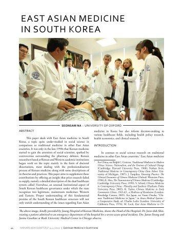 EAST ASIAN MEDICINE IN SOUTH KOREA - Duke University