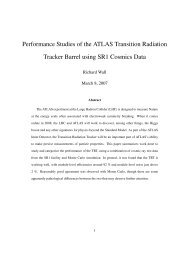 Performance Studies of the ATLAS Transition Radiation Tracker ...