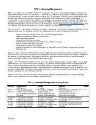 Spring 07 ITPS I – Database Management ITPS I – Database ...