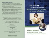Recruiting Middleand High School Science Teachers - Helios Home ...