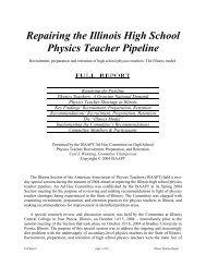 Repairing the Illinois High School Physics Teacher Pipeline