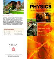 Illinois State University - Department of Physics