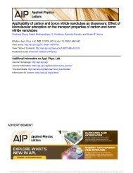 Applicability of carbon and boron nitride nanotubes as biosensors ...