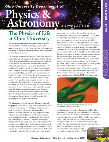 Physics & Astronomy Alumni Newsletter PDF - Department of ...