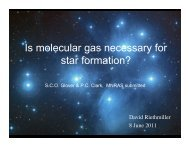 Is molecular gas necessary for star formation?