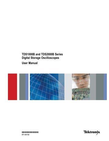 Manual TDS 2004B oscilloscope