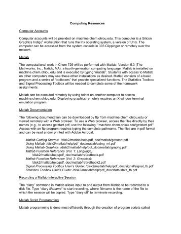 Computing Resources Computer Accounts ... - Ohio University
