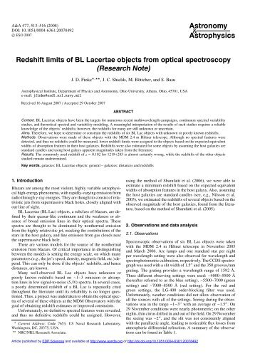 Redshift limits of BL Lacertae objects from optical spectroscopy