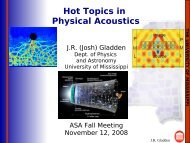 slides - Physics and Astronomy - University of Mississippi