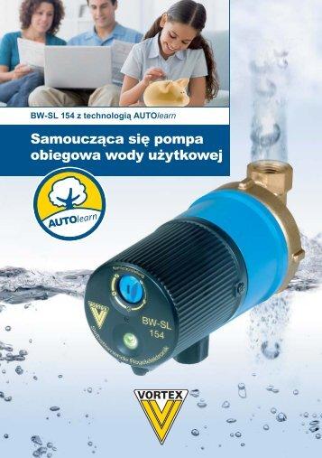 Samoucząca się pompa  obiegowa wody użytkowej