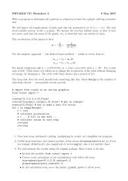 PHY3021F CP: Worksheet 3 8 May 2007 Write a program to ...