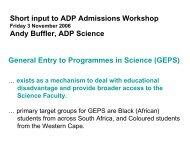 ADP Admissions workshop (November 2006)